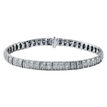 Genuine 2.73 CTW Diamond Straight  Bracelet in 14K White Gold - REF-200K8T