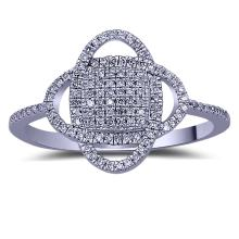 Genuine 0.17 CTW Diamond Fashion  Ring in 14K Rose Gold - REF-22A8N