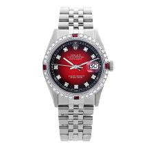 Rolex Pre-owned 36mm Mens Red Vignette Stainless Steel