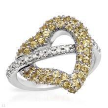 Genuine 1.65 CTW Sapphire Fashion  Ring in 14K White Gold - REF-56T8Z
