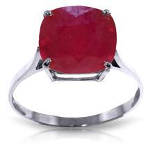 Genuine 6.75 ctw Ruby Ring Jewelry 14KT White Gold - GG-4178-REF#70W6Y