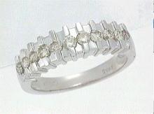 Platinum 0.59CTW Diamond Band Ring - REF-141M3F