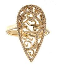 14K Yellow Gold 0.41CTW Diamond Rings - REF-62F3M
