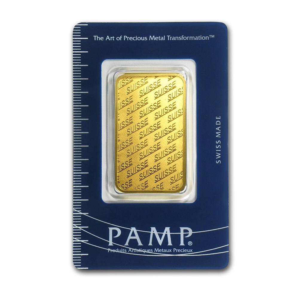 Lot 4089: Genuine 1 oz 0.9999 Fine Gold Bar - PAMP Suisse