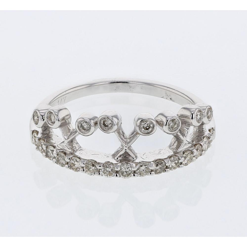 0.48 CTW Diamond Ring 14K White Gold - REF-42H5M