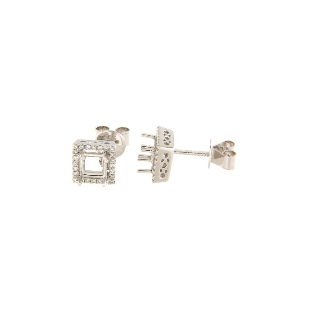 0.21 CTW Diamond Earrings 14K White Gold - REF-34H2M