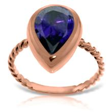 Lot 4012: Genuine 3.5 ctw Sapphire Ring Jewelry 14KT Rose Gold - REF-59P2H