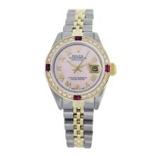 Lot 4036: Rolex Pre-owned 26mm Womens Custom Pink Two Tone - REF-520H4N
