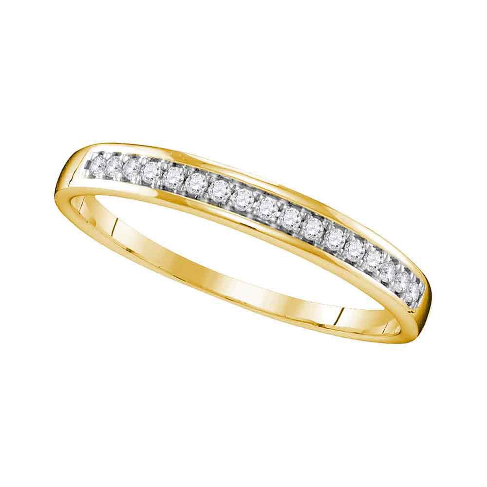 0.11 CTW Diamond Wedding Ring 10KT Yellow Gold - REF-14K9W