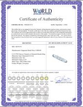 Lot 4004: 0.15 CTW Princess Channel-set Diamond Slender Ring 14KT White Gold - REF-25F4N