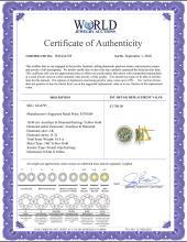 Lot 4019: Genuine 10.40 ctw Green Amethyst & Diamond Earrings Jewelry 14KT Rose Gold - REF-120T5A