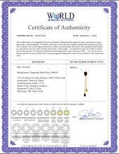 Lot 4027: Genuine 3.75 ctw Garnet & Citrine Necklace Jewelry 14KT Yellow Gold - REF-23R5P
