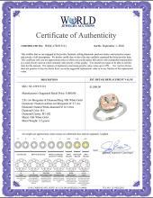 Lot 4028: Natural 2.81 ctw Morganite & Diamond Engagement Ring 10K White Gold - REF-59Z7Y