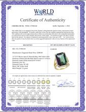 Lot 4035: Natural 13.72 ctw Mystic-topaz & Diamond Engagement Ring 10K Yellow Gold - REF-65F2N