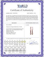 Lot 4042: 0.25 CTW Red Color Diamond Dangle Earrings 10KT Rose Gold - REF-28H4M