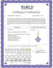 Lot 4047: Genuine 2.43 ctw Tanzanite Necklace Jewelry 14KT Yellow Gold - REF-50Z9N
