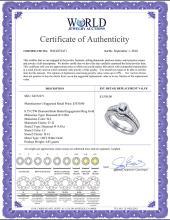 Lot 4063: 0.75 CTW Diamond Halo Bridal Engagement Ring 14KT White Gold - REF-89K9W