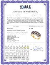 Lot 4068: 1.5 CTW Cognac-brown Color Diamond Ring 10KT Yellow Gold - REF-104X9Y