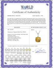 Lot 4072: Genuine 3.6 ctw Citrine Necklace Jewelry 14KT White Gold - REF-28N9R