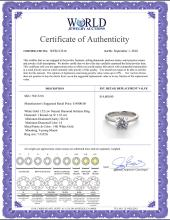 Lot 4074: 14K White Gold 1.52 ctw Natural Diamond Solitaire Ring - REF-483H5T-WJ13216