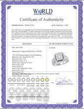 Lot 4082: 1.59 CTW Diamond Square Cluster Bridal Engagement Ring 10KT White Gold - REF-194F9N