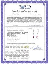 Lot 4094: Genuine 4.56 ctw Amethyst & Diamond Earrings Jewelry 14KT Rose Gold - REF-91A4K