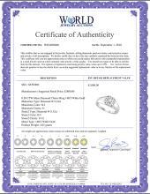 Lot 4105: 0.50 CTW Mens Diamond Cluster Ring 14KT White Gold - REF-71K4W