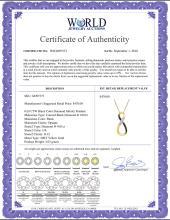 Lot 4108: 0.03 CTW Black Color Diamond Vertical Infinity Pendant 10KT Yellow Gold - REF-12N2F