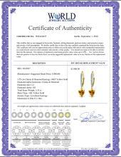 Lot 4142: Genuine 3.55 ctw Citrine & Diamond Earrings Jewelry 14KT White Gold - REF-62A2K