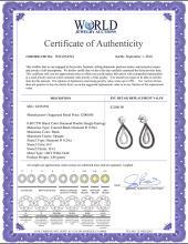Lot 4148: 0.80 CTW Black Color Diamond Double Teardrop Dangle Earrings 14KT White Gold - REF-52W4K