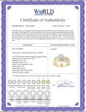 Lot 4159: 0.25 CTW Diamond Bridal Wedding Engagement Ring 10KT Yellow Gold - REF-32K9W