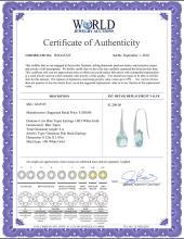 Lot 4171: Genuine 6 ctw Blue Topaz Earrings Jewelry 14KT Rose Gold - REF-38X5M