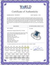 Lot 4185: 0.50 CTW Blue Diamond Indented Rectangle Cluster Ring 10KT White Gold - REF-34W4K