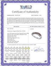 Lot 4196: 0.39 CTW Cognac-brown Color Diamond Crossover Ring 10KT White Gold - REF-30W2K
