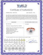 Lot 4199: 14K Rose Gold 1.36 ctw Natural Diamond Solitaire Ring - REF-403G2K-WJ13246