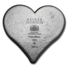 Genuine 500 gram Fine Silver Heart - Geiger Edelmetalle