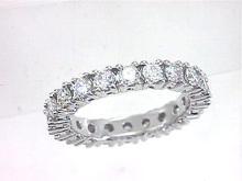 18K White Gold 2.08CTW Diamond Band Ring - REF-278X3Y