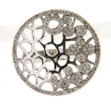 14K White Gold 0.52CTW Diamond Rings - REF-67A2N