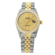 Rolex Men's 2Tone/SS 14K Band Diamond Dial/ Bezel Pre-owned