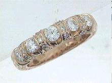 18K Rose Gold 0.98CTW Diamond Band Ring - REF-164K2R