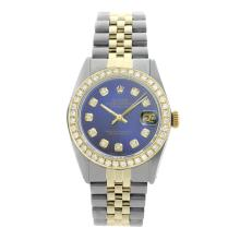 Rolex Pre-owned 36mm Mens Blue Two Tone - REF-610N4H