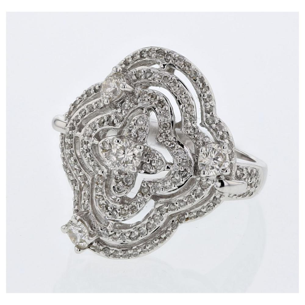 1.13 CTW Diamond Ring 14K White Gold - REF-109W3H