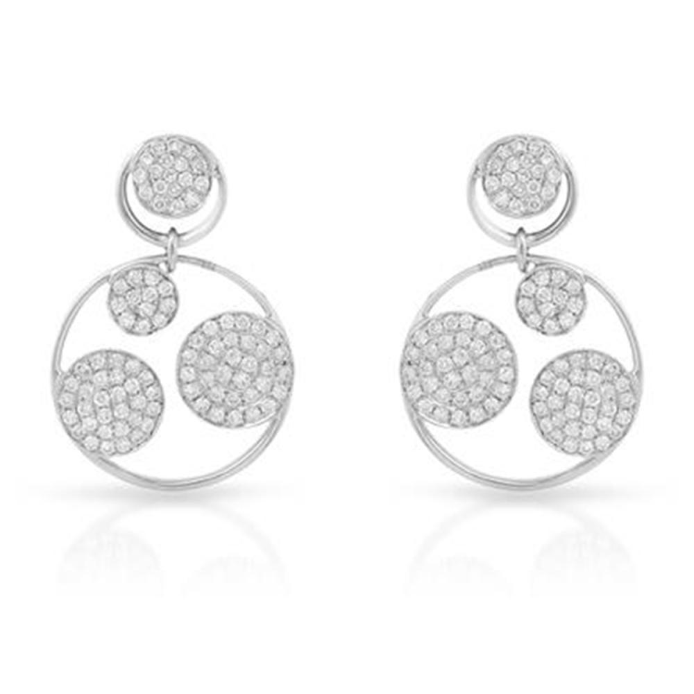 1.36 CTW Diamond Earrings 14K White Gold - REF-123W2H