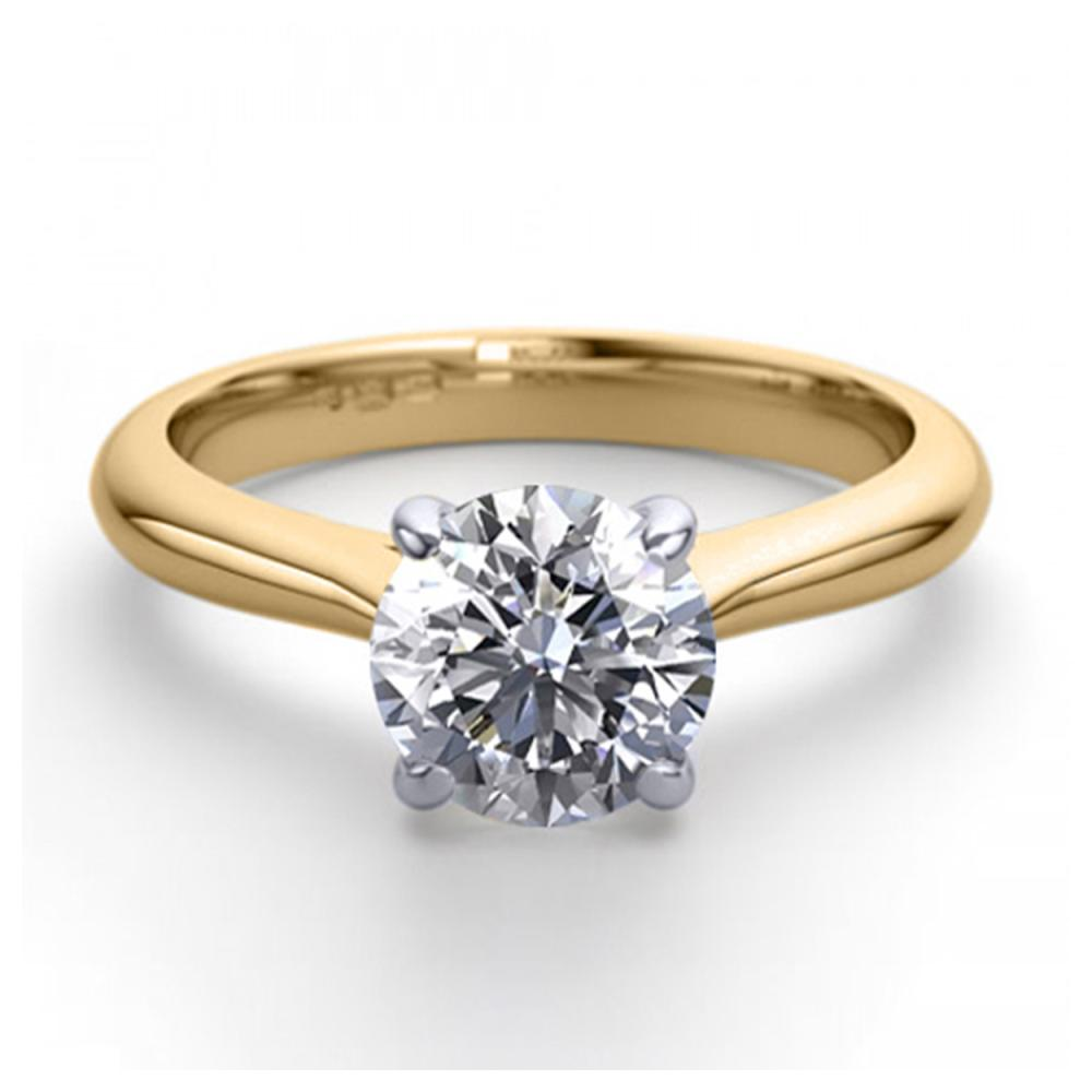 14K 2Tone Gold 1.52 ctw Natural Diamond Solitaire Ring - REF-483H5T-WJ13208