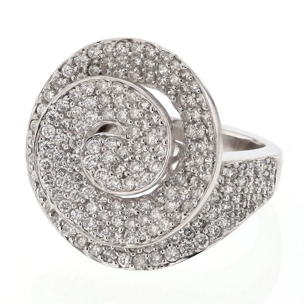 2.36 CTW Diamond Ring 18K White Gold - REF-225Y5X