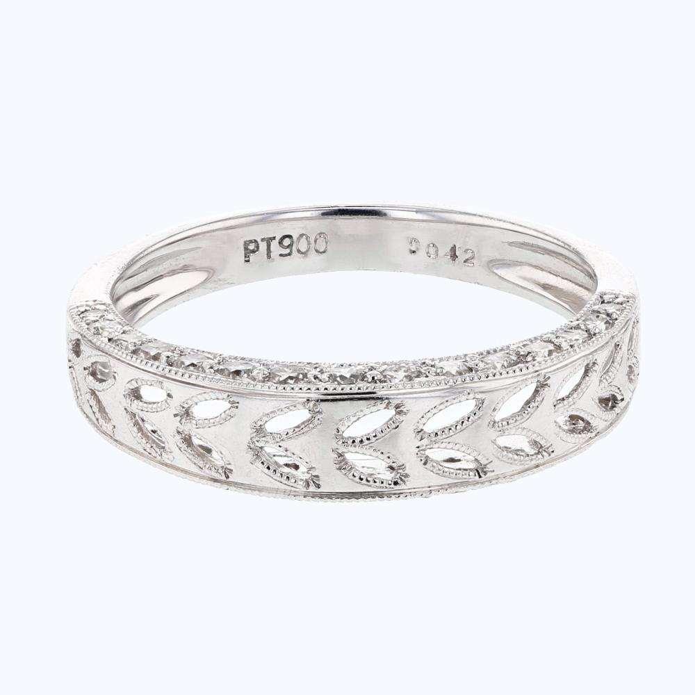 0.42 CTW Diamond Band Ring Platinum - REF-57Y3X