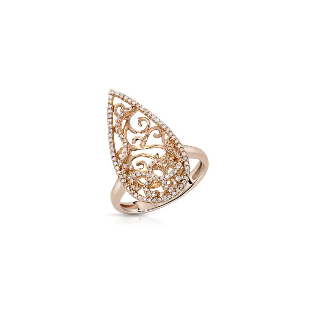 0.41 CTW Diamond Ring 14K Rose Gold - REF-45R5K