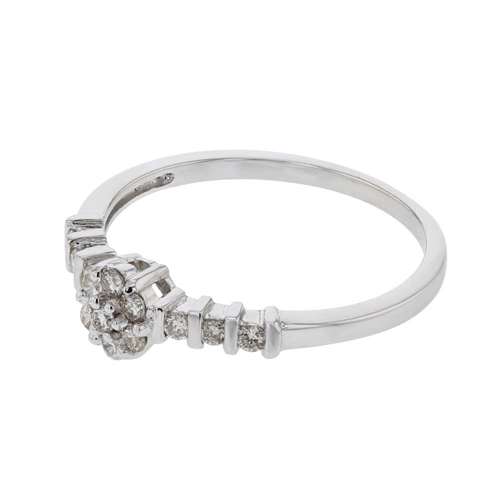 0.24 CTW Diamond Ring 14K White Gold - REF-29R7K