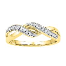 0.10CT Diamond Anniversary 10KT Ring Yellow Gold - REF-16Y4Z