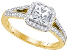 0.85CT Diamond Bridal 14KT Ring Yellow Gold - REF-184T4N